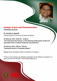CAC Talastasan Lectures